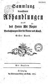 Recueil d'opuscules de l'abbé Rozier, traduit en allemand