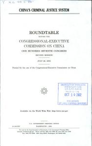 China s Criminal Justice System PDF