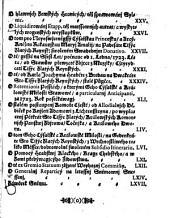 Artykulowé wsseobecného Sněmownjho Snessenj, genž na Králowském Hradě Pražském, 12. dne Měsýce Listopadu, Léta 1722. v přjtomnosti Wysoce-Vrozeného Pána, Pana Antonjna Jana, Swaté Ržjmské Ržjsse Hraběte z Nostyc a Ryneku, Pána na Falkenowě, Heynrychsgrýnu, Cžocze, Krásslicých, Litinjcých, Zdiaru a Ličkowě, Geho Cýsařské a Králowské Milosti skutečné Tegné Raddy, Komornjka, Králowského Mjstodržjcýho, a Neywyšssýho Hoffmjstra w Králowstwj Cžeském, též Purgkrabj Chebského, [et]c. A Wysoce-Vrozeného Pána, Pana Karla Joachyma, Swaté Ržjmské Ržjsse Hraběte z Bredy, Pána na Tachlowicých, Litowicých, Cžerweným Augezdě, Dobrey, Kacowě, Cžestýně, a Pečkách, Geho Cýsařské a Králowské Milosti skutečné Tegné Raddy, Komornjka, Králowského Mjstodržjcýho, a Saudce Zemskýho w Králowstwj Cžeském, [et]c. Též Vrozeného a Statečného Rytjře, Pana Jana Frantisska z Golču, na Massowě a Wylemicých, Geho Cýsařské a Králowské Milosti Raddy, Králowského Mjstodržjcýho, Saudce Zemského, a Purgkrabj Krage Králohradeckého w Králowstwj Cžeském; Gakožto k tomu wsseobecnému Sněmu zřjzených Wysoce-Wzáctných Cýsařských a Králowských Commissařůw, přednessené, a dne 10. Cžerwna, Léta 1723. od wssech Cžtýr Stawůw tohoto Králowstwj Cžeského zawřené a wyhlássené byli