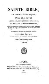 Sainte Bible en latin et en français: ouvrage enrichi de cartes géographiques et de figures, Volume25