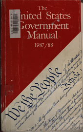 The United States Government manual 1987/88