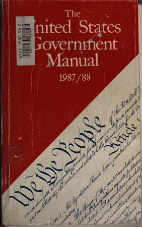The United States Government manual 1985 86   publ  1985 PDF