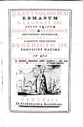 Martyrologium Romanum Gregorii XIII. jussu editum