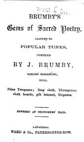 Brumby's Gems of Sacred Poetry, adapted to popular tunes, compiled by J. Brumby