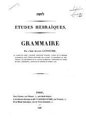Etudes hébraïques: Volume2