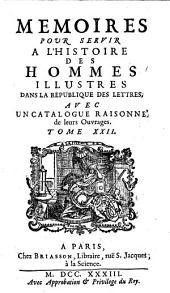 Memoires Pour Servir a L'Hisoire des Hommes Illustres