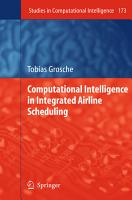 Computational Intelligence in Integrated Airline Scheduling PDF