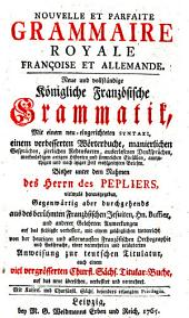 Grammaire François et Allemande