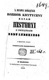 X. Hugona Kołłataja Rozbiór Krytyczny zasad Historyi: o poczakach rodu Ludzkiego, Tom 3