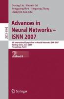 Advances in Neural Networks   ISNN 2007 PDF