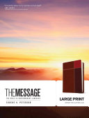 Message MS Large Print Numbered  The Bible in Contemporary Language Book