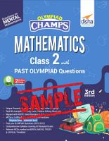 Free Sample  Olympiad Champs Mathematics Class 2 with Past Olympiad Questions 3rd Edition PDF