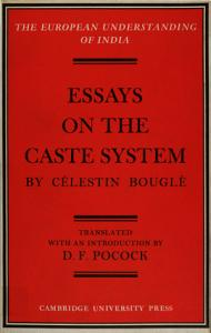 Essays on the Caste System by Célestin Bouglé