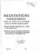 Méditations Chrétiennes pour les Dimanches, les Fériés et les principales Fêtes de l'année par un religieux Bénédictin