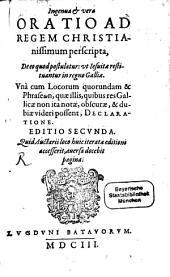 Oratio Ingenua et vera ad Regem Christianissimum ut Jesuitae restituantur in Gallia