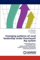 Emerging Patterns of Rural Leadership Under Panchayati Raj System PDF