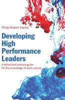 Developing High Performance Leaders PDF