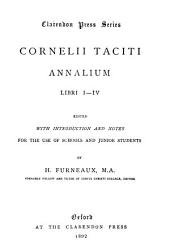 Annalium: Edited with introduction and notes for the use of schools and junior students. libri I-IV.