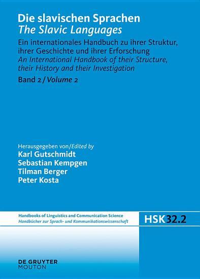 Die slavischen Sprachen   The Slavic Languages  Halbband 2 PDF