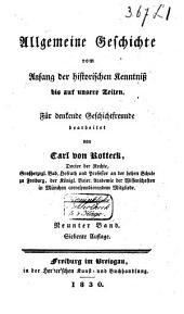 Allgemeine Geschichte vom Anfang der historischen Kenntniss bis auf unsere Zeiten: Band 9
