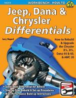Jeep  Dana and Chrysler Differentials PDF