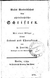 Moses Mendelssohns Kleine philosophische Schriften