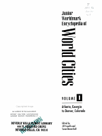Junior Worldmark Encyclopedia of World Cities  Atlanta  Georgia to Denver  Colorado PDF