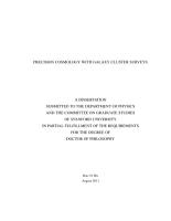 Precision Cosmology with Galaxy Cluster Surveys PDF