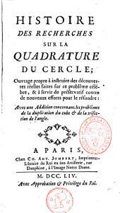 Histoire des recherches sur la quadrature du cercle
