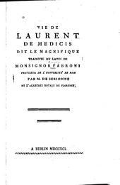 Vie de Laurent de Medicis, dit le Magnifique
