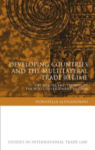 Developing Countries and the Multilateral Trade Regime Book