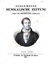 Allgemeine Musikalische Zeitung Vier ind Dreissgster Jahrgang