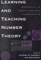 Learning and Teaching Number Theory: Research in Cognition and Instruction