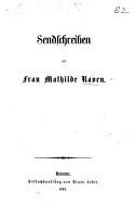 Sendschreiben an Frau M  Raven   In reference to her defence of Herr von Bennigsen  etc   PDF
