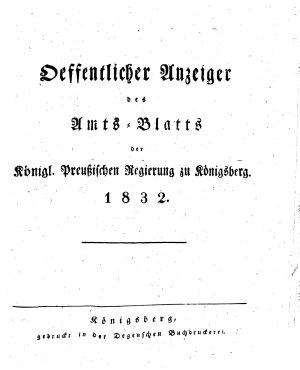 Amtsblatt der Preussischen Regierung zu K  nigsberg PDF