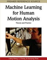 Machine Learning for Human Motion Analysis  Theory and Practice PDF