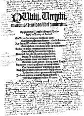 Publii Vergilii maronis Aeneidos libri duodecim