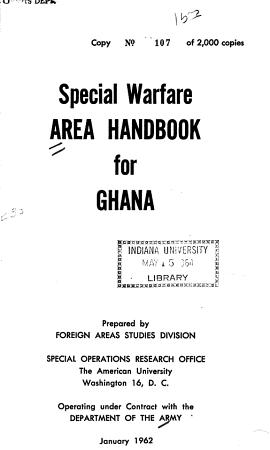 Special Warfare Area Handbook for Ghana PDF
