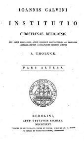 Joannis Calvini Institutio christianae religionis: Volume 2