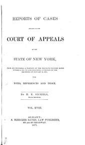 Reports of Cases Decided in the Court of Appeals of the State of New York: Volume 63