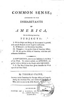 Common Sense  Addressed to the Inhabitants of America  on the Following Interesting Subjects      By Thomas Paine      PDF