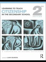 Learning to Teach Citizenship in the Secondary School PDF