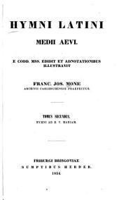Hymni Latini medii aevi: Hymni ad B.V. Mariam