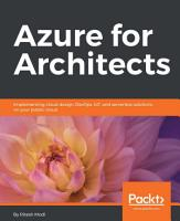 Azure for Architects PDF