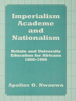 Imperialism, Academe and Nationalism