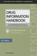 Drug Information Handbook PDF
