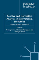 Positive and Normative Analysis in International Economics