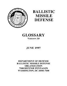 Ballistic missile defense glossary Book