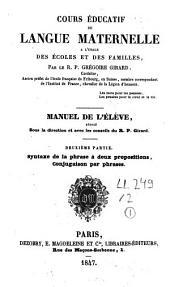 Cours éducatif de langue maternelle à l'usage des écoles et des familles: Volume2
