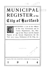 Municipal Register of the City of Hartford ...